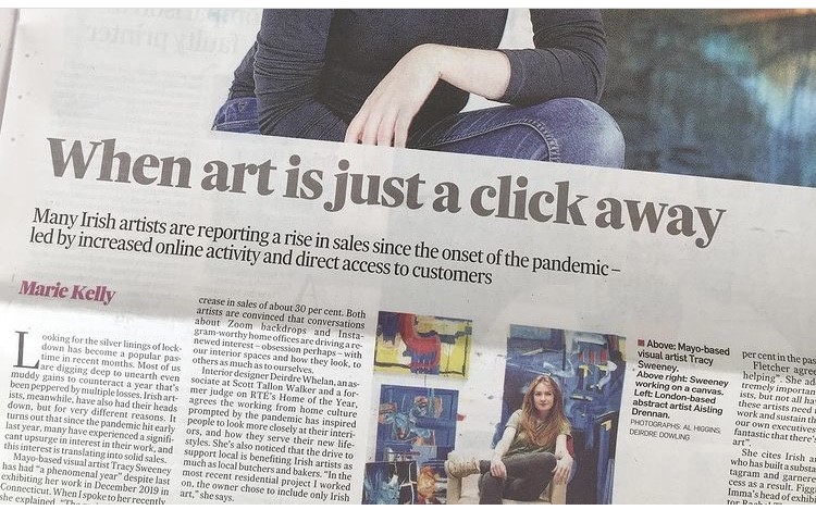 irish times newspaper interview with aisling drennan abstract painter discussing selling art during covid 19/ pandemic and selling art online. Artists interview, Artists interview questions Pandemic art Selling art online uk Selling art online ireland Art career Online painting sales Selling through instagram Selling art through instagram Diy culture Aisling drennan art Aisling drennan paintings Art interview Selling art online UK Selling art online ireland How to buy art online How to buy online froman artist Original art for sale Buy art online uk Buy art online ireland Original art online Buy art prints online